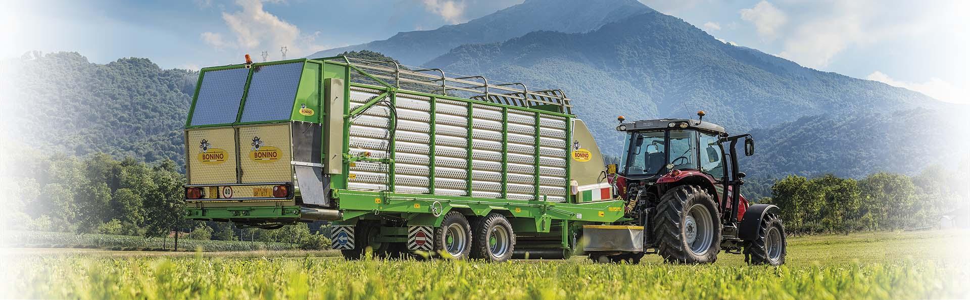 Bonino-carro-falcia-autocaricante-Venere-700-Self-loading-grazer-wagon-remorque-faucheuse-autochargeuse-remolque-segador-autocargador-Landmaschinen-Mähladewagen