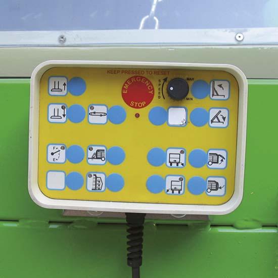 Falcia-autocaricante-Bonino-Venere-Giunone-pulsantiera-elettrica-zero-grazer-electrical-box-faucheuse-autochargeuse-boîtier-électronique